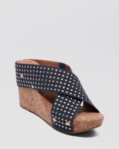 Midnight Blue Wedge Heel